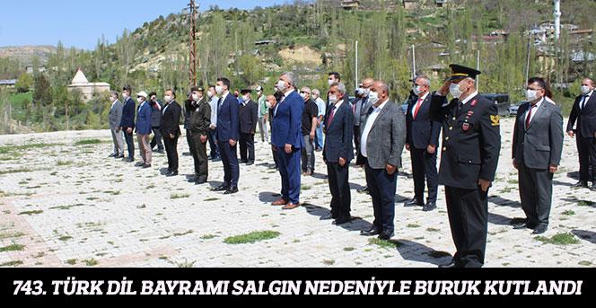 743. Türk Dil Bayramı Salgın Nedeniyle Buruk Kutlandı