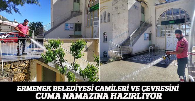 Ermenek Belediye'si Camileri Ve Çevresini Cuma Namazına Hazırlıyor
