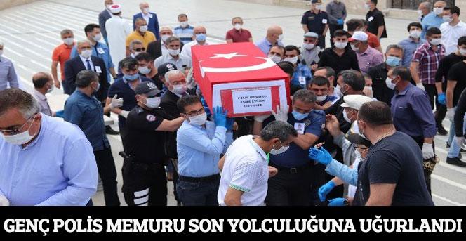 Genç polis memuru son yolculuğuna uğurlandı