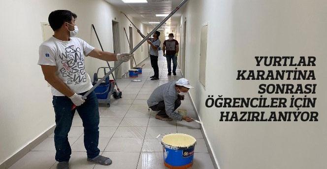 Yurtlar Karantina Sonrası Öğrenciler İçin Hazırlanıyor