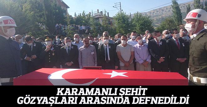 Karamanlı Şehit Gözyaşları Arasında Defnedildi