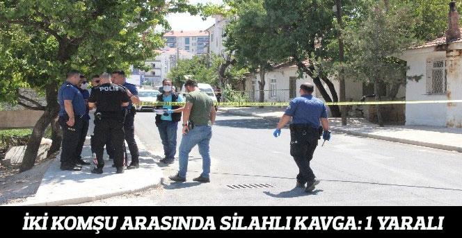 İki Komşu Arasında Silahlı Kavga: 1 Yaralı