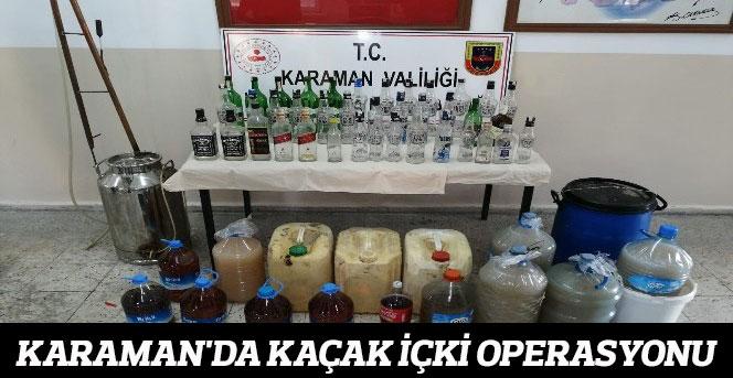 Jandarma'da kaçak içki operasyonu