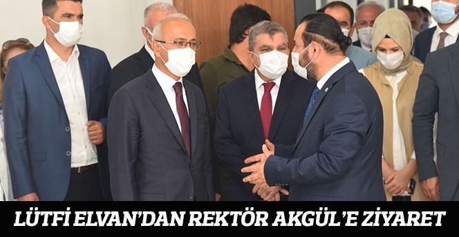 Lütfi Elvan'dan Rektör Akgül'e Ziyaret