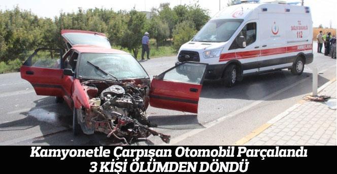 Karaman'da Feci kaza:3 kişi ölümden döndü