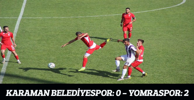 Karaman Belediyespor: 0 - Yomraspor: 2