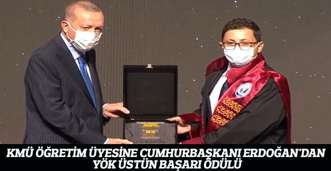 KMÜ Öğretim Üyesine YÖK Üstün Başarı Ödülü