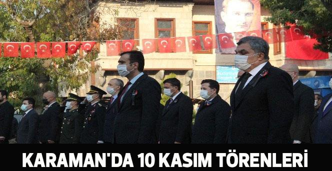 Karaman'da 10 Kasım törenleri
