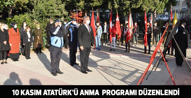 10 Kasım Atatürk'ü Anma Günü Programı Düzenlendi