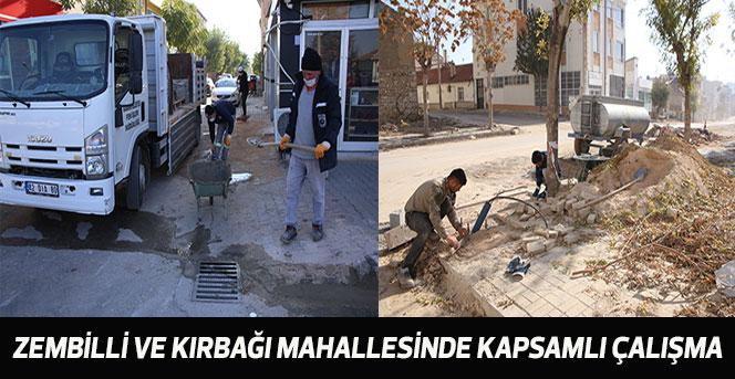Zembilli Ve Kırbağı Mahallesinde Kapsamlı Çalışma