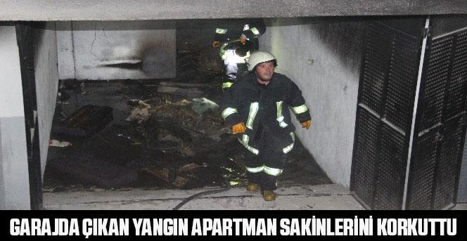 Garajda Çıkan Yangın Apartman Sakinlerini Korkuttu