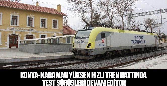 Yüksek Hızlı Tren Hattında Test Sürüşleri Devam Ediyor