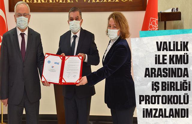 Valilik İle KMÜ Arasında İş Birliği Protokolü İmzalandı