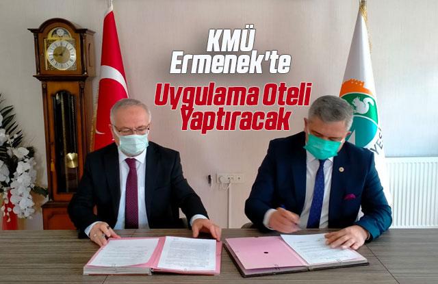 KMÜ, Ermenek'te Uygulama Oteli Yaptıracak