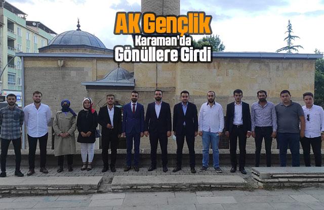 AK Gençlik Karaman'da Gönüllere Girdi