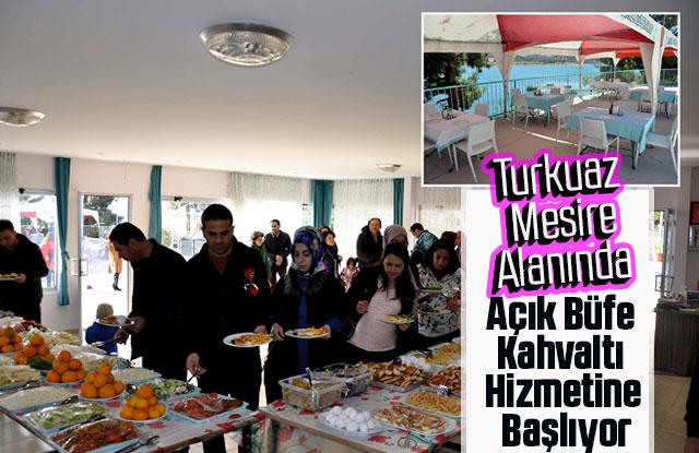 Turkuaz Mesire Alanında Açık Büfe Kahvaltı Hizmetine Başlıyor