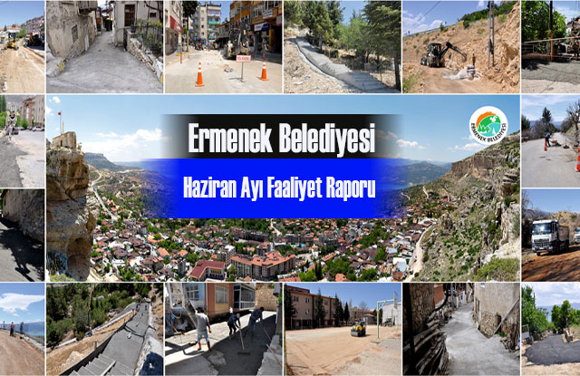 Ermenek Belediyesi Haziran Ayı Faaliyet Raporu