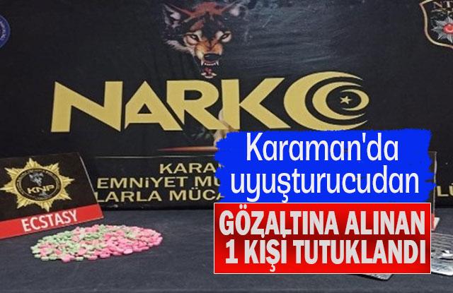 Karaman'da Uyuşturucudan Gözaltına Alınan 1 Kişi Tutuklandı