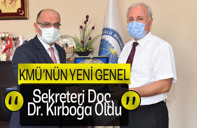 Kmü'nün Yeni Genel Sekreteri Doç. Dr. Kırboğa Oldu