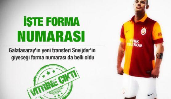 İşte Sneijder'in Forma Numarası