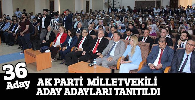 Ak Parti Milletvekili aday adayları tanıtıldı