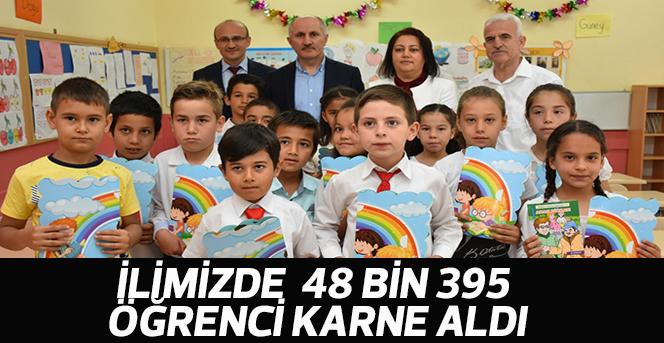 İlimizde 48 Bin 395 Öğrenci Karne Aldı