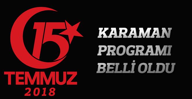 Karaman 15 Temmuz Programı