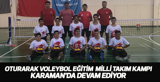 Oturarak Voleybol Eğitim Kampı, Karaman'da Devam Ediyor
