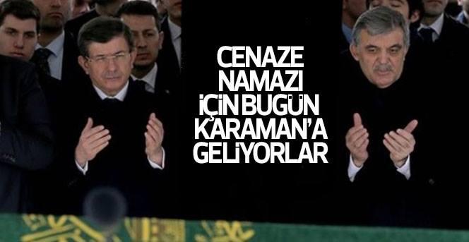 Abdullah Gül Ahmet Davutoğlu ve Cemil Çiçek   Karaman'a Geliyor