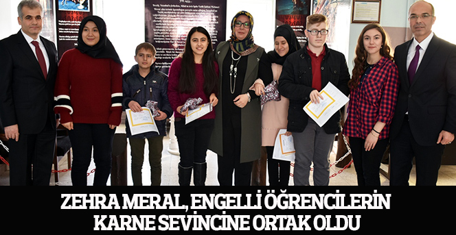 Zehra Meral, Engelli Öğrencilerin Karne Sevincine Ortak Oldu