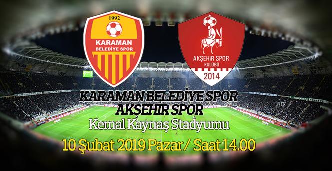 Karaman Belediye Spor, Akşehir Spor'u Ağırlıyor