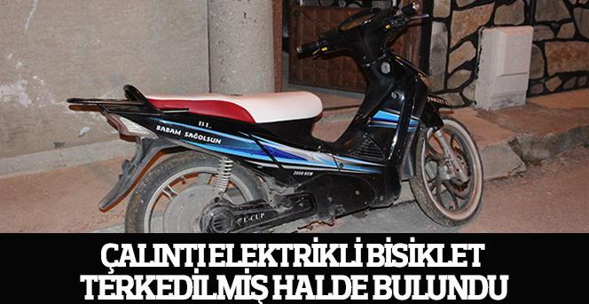 Çalıntı elektrikli bisiklet terkedilmiş halde bulundu