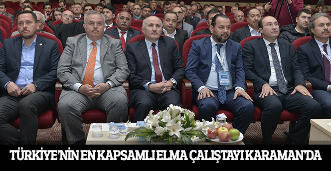 Türkiye'nin En Kapsamlı Elma Çalıştayı Karaman'da