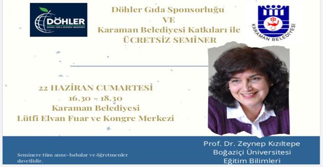Karaman Belediyesi Ev Sahipliğinde Aile Konulu Seminer