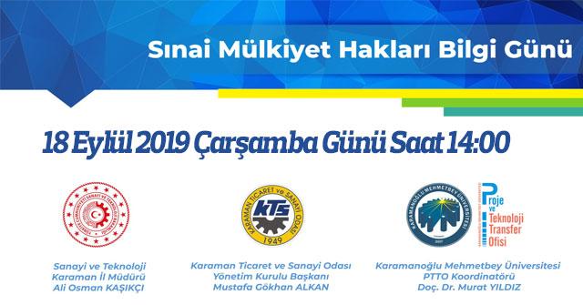 """KTSO'da """"Sınai Mülkiyet Hakları Bilgi Günü"""" Düzenlenecek"""