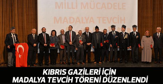 Kıbrıs Gazileri İçin Madalya Tevcih Töreni Düzenlendi