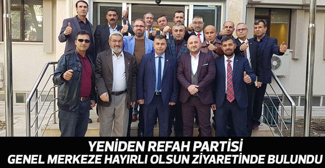 Yeniden Refah Partisi, Genel Merkeze hayırlı olsun ziyaretinde bulundu