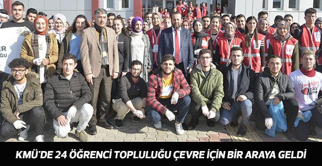 KMÜ'de 24 Öğrenci Topluluğu Çevre İçin Bir Araya Geldi