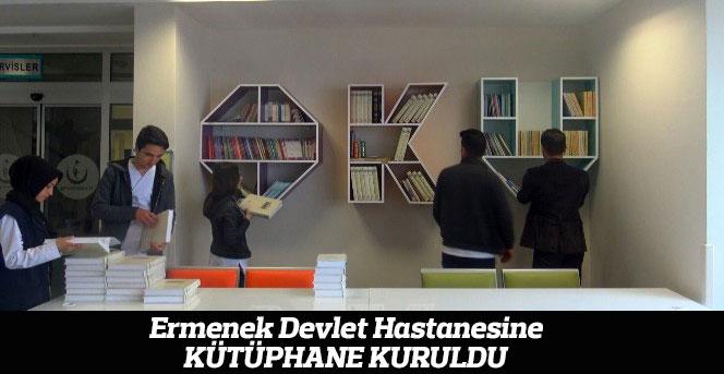 Ermenek Devlet Hastanesine kütüphane kuruldu