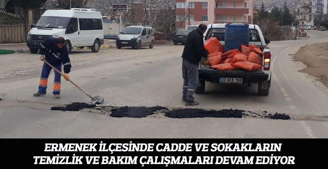 Ermenek Belediyesi'nin Temizlik Ve Bakım Çalışmaları Devam Ediyor