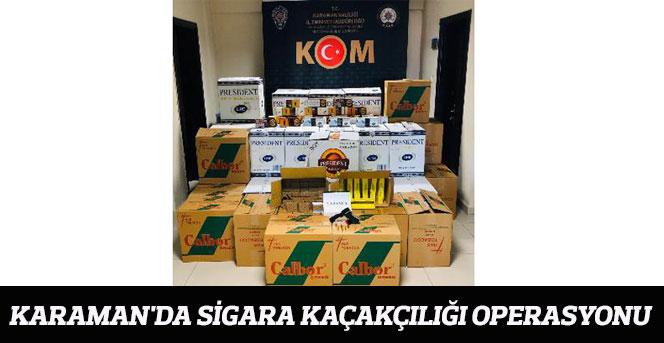 Karaman'da sigara kaçakçılığı operasyonu