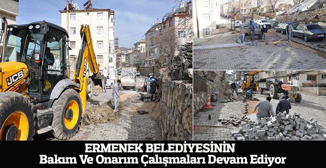 Ermenek Belediyesinin Bakım Çalışmaları Devam Ediyor