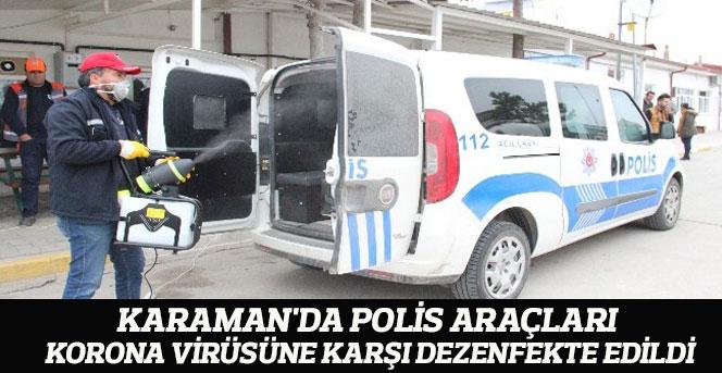 Polis araçları korona virüsüne karşı dezenfekte edildi