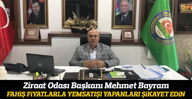 Ziraat Odası Başkanı Bayram; Çiftçi yem ve gübre fiyatları nedeniyle bir hayli zorluk çekiyor.