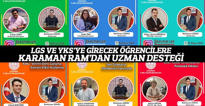 LGS ve YKS'ye Girecek Öğrencilere Karaman RAM'dan Uzman Desteği