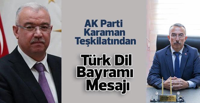 AK Parti  Karaman  Teşkilatından,Türk Dil Bayramı Mesajı