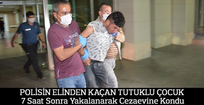 Polisin Elinden Kaçan Tutuklu Çocuk, yakalandı