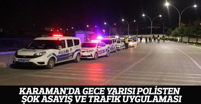 Gece Yarısı Polisten Şok Asayiş Ve Trafik Uygulaması