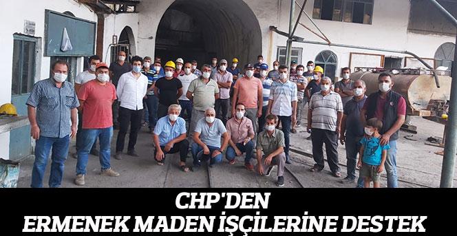 CHP'den Ermenek Maden İşçilerine Destek