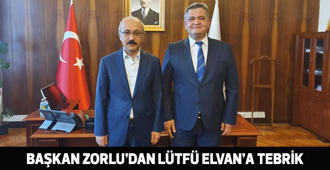 Başkan Zorlu'dan Lütfi Elvan'a Tebrik Mesajı